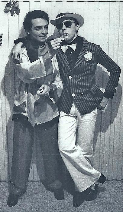 Fiuto e Robie alla festa di Carnevale 1978. Villa Parocchiale, San Pietro in Casale
