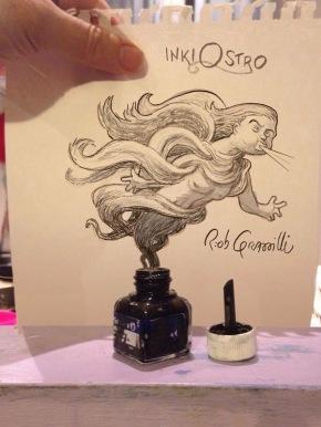 #INKtober 2015: DAY #21: inkiOSTRO #disegniGrassilli #decreasedreality #realtàdiminuita #ink #wind #Ostro