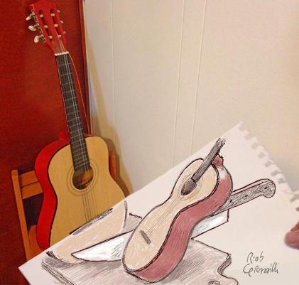 #INKtober DAY #19: Come ottenere due semitoni / How to obtaining two semitones #disegniGrassilli #decreasedreality #realtàdiminuita #guitars