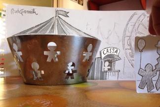 #INKtober DAY #15: all-essi / tutti-their on the carousel #disegniGrassilli #decreasedreality #realtàdiminuita #carousel #girotondo #alessi_official #fruitbowl