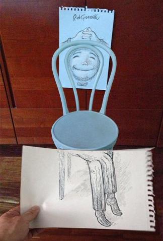 #INKtober DAY #16: sedia rilassa te stessa! chair relax yourself! #disegniGrassilli #decreasedreality #realtàdiminuita #chairs #chair