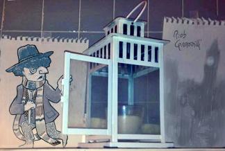 #INKtober DAY #13: LanTardis #disegniGrassilli#decreasedreality #realtàdiminuita #lamps #drWho #doctorwho
