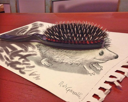 #INKtober DAY #18: Porcospazzola / Porcush #disegniGrassilli #decreasedreality #realtàdiminuita #porcupine