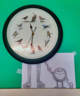 """#INKtober DAY #3: la """"realtà diminuita"""", in senso letterale, riguarda il tempo. Foglio A4, scotch, drawing pen Pilote 02./""""decreased reality"""", literally, about time. A4 paper, scotch, drawing pen Pilote 02. #disegniGrassilli #decreasedreality #realtàdiminuita #disegni #clocks"""