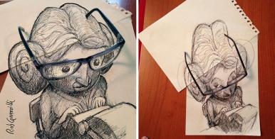 #INKtober DAY #6: la mia segretaria al lavoro / my secretary at work. #disegniGrassilli #decreasedreality #realtàdiminuita #glasses #glasses_s #secretaries