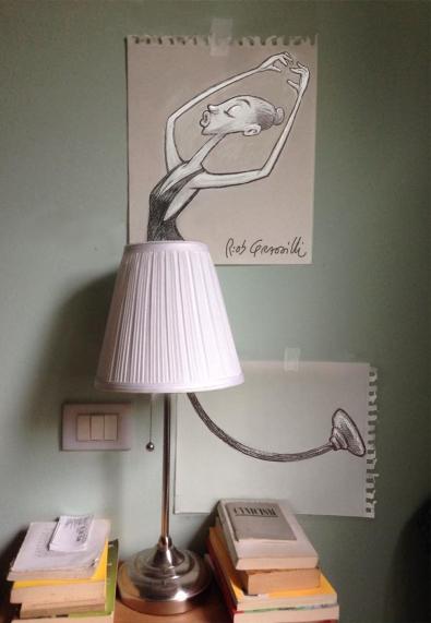 #INKtober DAY #10: Ballerina/ Dancer #disegniGrassilli #decreasedreality #realtàdiminuita #dancer #lamp