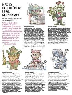 """""""Meglio dei Pokèmon: i figli di Gheddafi! """" di Lia Celi, disegni di Rob Grassilli, dal Misfatto del 27/2/11."""